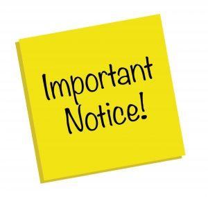 substitute return notice