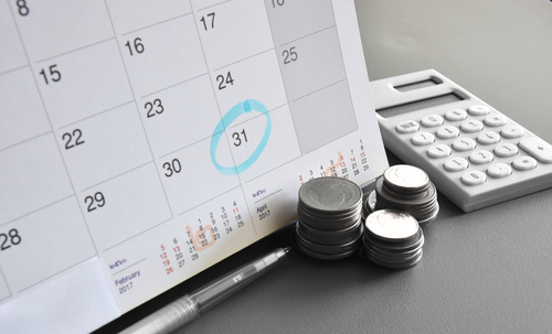 calendar of IRS payment plan